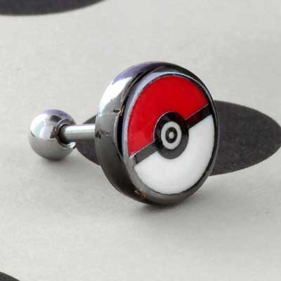 Pokeball barbell