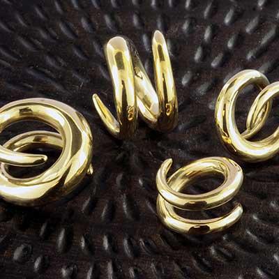 Solid Brass Khmer Coils