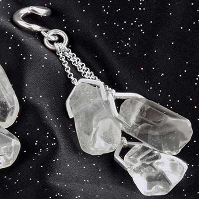 Silver and Chunky Quartz Weights