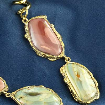 Solid brass imperial jasper double dangle weights