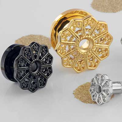 Screw Fit Sun Mandala Plug
