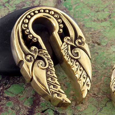 Brass Leafy Keyhole Weights