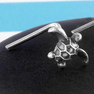 Silver Turtle Nosescrew