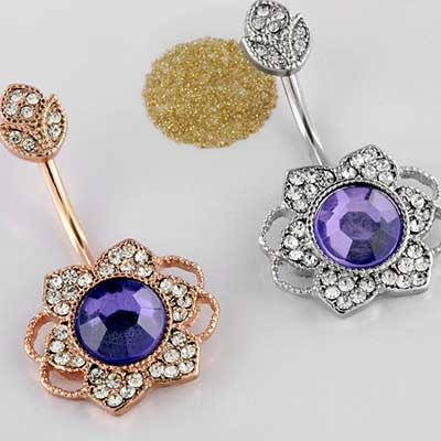 Purple Jewel Flower Navel