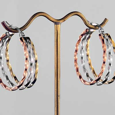 Trio Twisted Steel Hoops