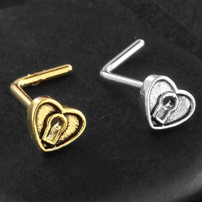 Heart Lock Nosescrew