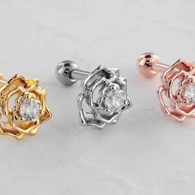 Jeweled Rose Barbell