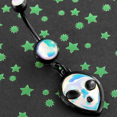 Hologram Alien Navel