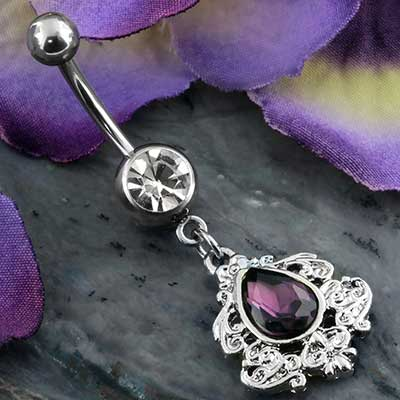 Purple Victorian teardrop navel