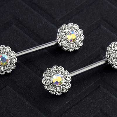 Aurora Flower Nipple Barbell