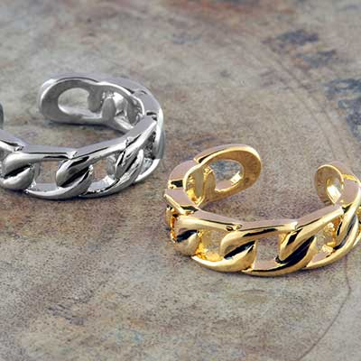 Adjustable Chain Link Toe Ring
