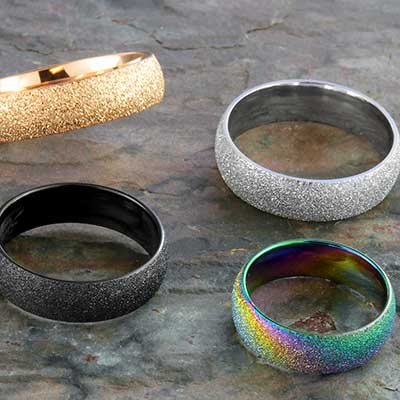 Sand sparkle band ring