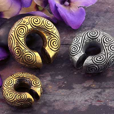Brass Swirl Hoop Weights