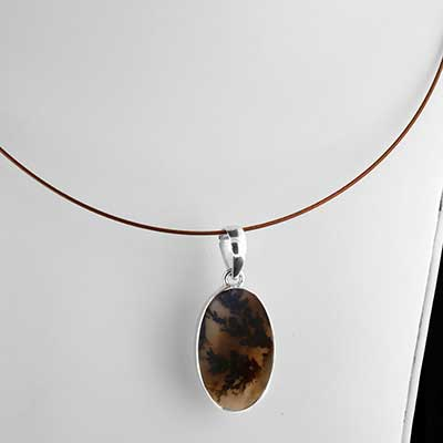 Scenic Agate and Silver Necklace