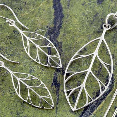Silver Leaf Jewelry Design