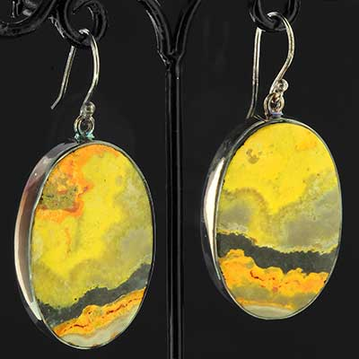 Silver and Bumble Bee Jasper Earrings