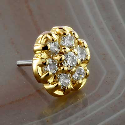 Threadless 18k Gold Flower End