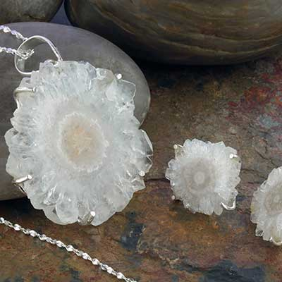 Silver and Quartz Stalactite Jewelry