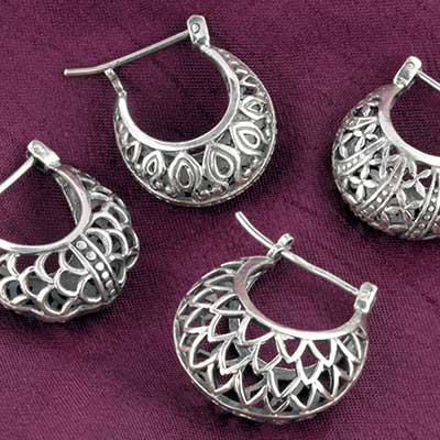 Silver Stirrup Earrings