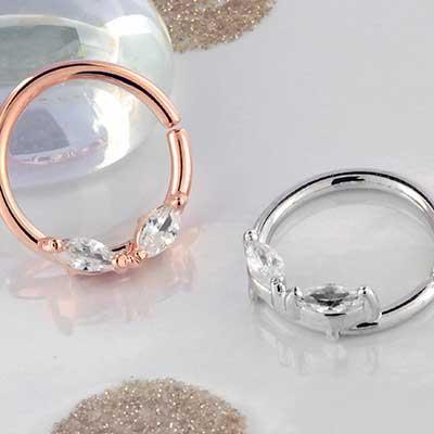 Duet CZ Seamless Ring