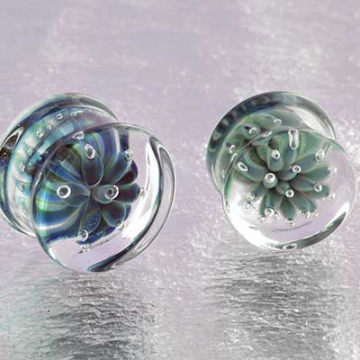 Glass Blossom Plugs