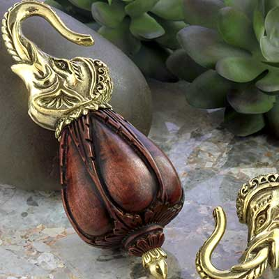 Brass and Dark Tamarind Ganesha Weights