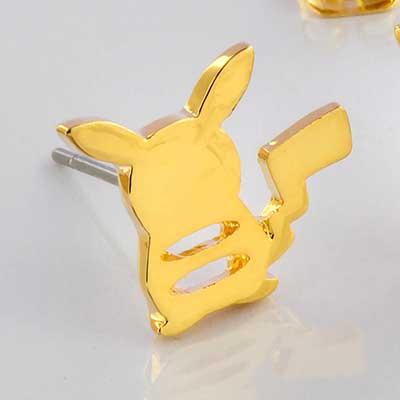 Gold Plated Pikachu Earrings