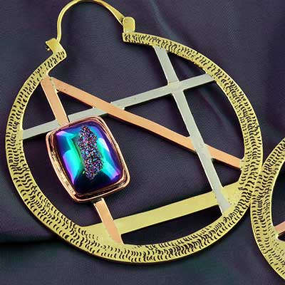 Clarity Hoop Design with Druzy