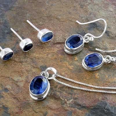 Silver and Faceted Kyanite Design