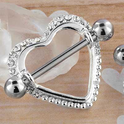 Jeweled Heart Nipple Shield