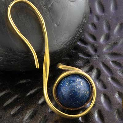 Brass and Lapis Orb Design