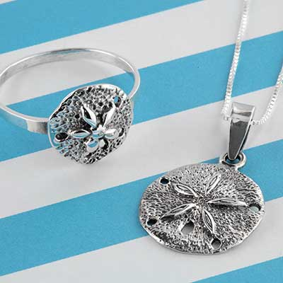 Silver Sand Dollar Jewelry Design