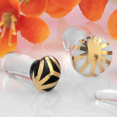 Single Flare Japanese Star Foil Plugs
