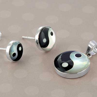 Yin Yang Jewelry Design with Black Onyx
