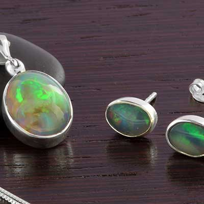 Silver and Ethiopian Opal Jewelry