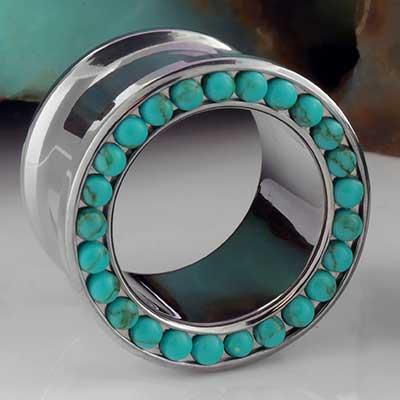 Titanium Gemmed Eyelet (Turquoise)
