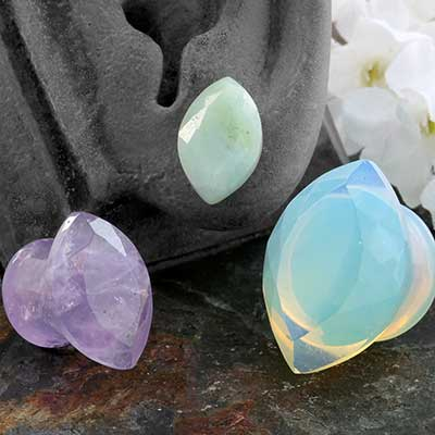 Faceted Marquise Plugs