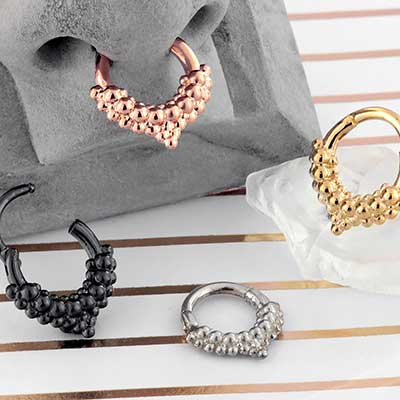 Mist Septum Clicker Ring