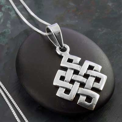 Silver Eternal Knot Necklace