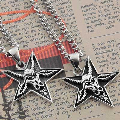 Silver Baphomet Necklace