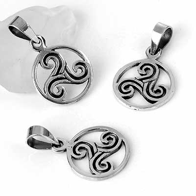 Silver Triskelion Necklace