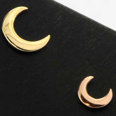 Threadless 14k Gold Moon End