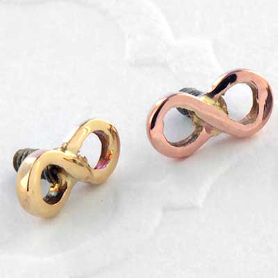 14k gold Infinity Threaded Ends