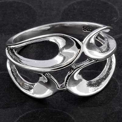 Silver Dew Drop Ring