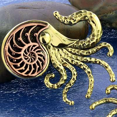 Brass Ammonite Squid Weights