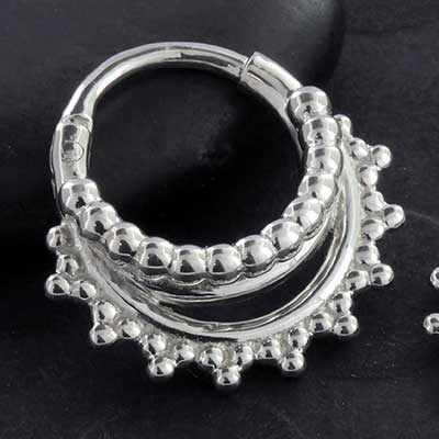 Beaded Afghan Septum Clicker