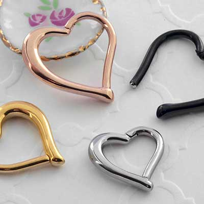 Heart Shaped Clicker Ring