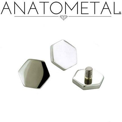 PRE-ORDER 18k gold Hexagon end