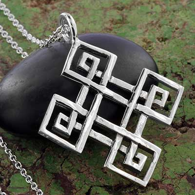 Silver Celtic Endless Knot Necklace