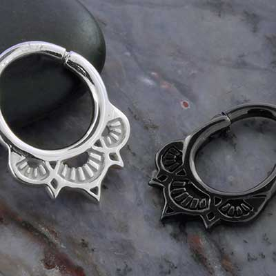Petite Lotus Septum Clicker Ring